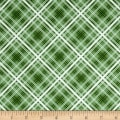 Maywood Studio Hi-de-Ho Diagonal Plaid Green