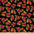 Maywood Studio Paradise Spaced Floral Charcoal Black
