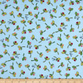 Maywood Studio Kimberbell Lil' Sprout Flannel Too! Sprouts N' Hearts Tossed Blue