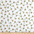 Maywood Studio Kimberbell Lil' Sprout Flannel Too! Sprouts N' Hearts Tossed White