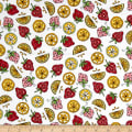 Maywood Studio Kimberbell Lil' Sprout Flannel Too! Strawberries N' Lemons White