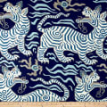 Clarence House 100% Linen Tibet Print Blues