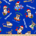 Grumpy Cat Christmas Allover Blue