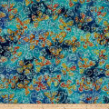 Jewel Box Batiks Butterfly Blu/Org