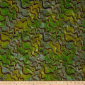 Urban Ethnic Metallic Gold Zigzag Green/Yellow