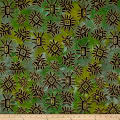 Urban Ethnic Metallic Gold Abstract Green/Yellow