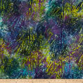 Aztec Abstract Batik Purple/Teal