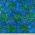 Swirl Mini Leaf Batik Lt Blue/Purple/Green