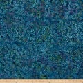 Swirl Mini Leaf Batik Teal