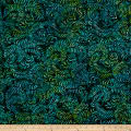 Sweeping Vine Batik Blue/Green