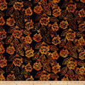 Floral Batik Black/Brown