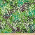Stripe Batik Dot Teal/Green/Purple