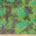 Shell Dots Batik Teal/Green/Purple