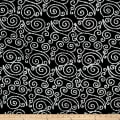 Scroll Batik White/Black