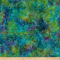 Square Dots Batik Teal/Purple/Green
