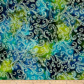 Scroll Batik Blue/Green