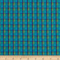 Yarn Dyed Shirting Plaid Aqua/Navy/Green