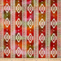 Batik Navajo Stripe Orange/Pink