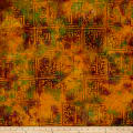 Block Patch Batik Earth Tones