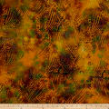 Swirl Dots Batik Earth Tones