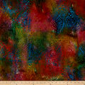 Swirl Dots Batik Bright Multi