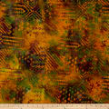 Batik Ethnic Patch Earth Tones