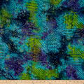Batik Ethnic Patch Blue/Green/Purple