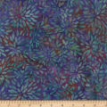 Wilmington Batiks Packed Petals Purple/Teal