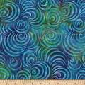 Wilmington Batiks Drifting Leaves Teal/Blue