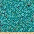 Wilmington Batiks Delicate Leaves Teal