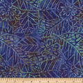 Wilmington Batiks Leaf and Flower Mix Purple/Blue