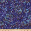 Wilmington Batiks Flower Burst Purple/Blue