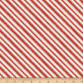 Wilmington Friendly Gathering Diagonal Stripe Taupe/Red