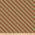 Wilmington Holiday Lane Ticking Stripe Red