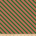 Wilmington Holiday Lane Ticking Stripe Green
