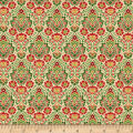 Wilmington Holiday Lane Damask Tan
