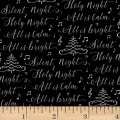 Hoffman Cardinal Carols Silent Night Words Metallic Onyx/Silver