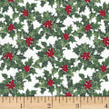 Hoffman Cardinal Carols Holly Metallic Mist/Silver