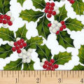 Hoffman Poinsettia Song Holly Metallic Frost/Silver