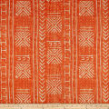 Genevieve Gorder Mali Mud Cloth Linen Tiger Lily