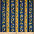 Stof France Valdrome Surya Stripe Bleu/Jaune