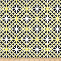 Kanvas Lemon Twist Geo Trellis White/Lemon