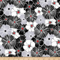 Kanvas Cherry Twist Packed Poppies Gray/Cherry