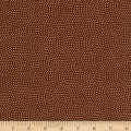 Timeless Treasures Metallic Spin Dot Brown