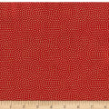 Timeless Treasures Metallic Spin Dot Red