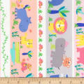 Timeless Treasures Jungle Paradise Jungle Stripe Pastel