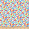 Timeless Treasures Crayon Party Dots White
