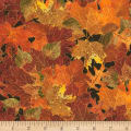 Timeless Treasures Bountiful Fall Leaves Metallic Fall