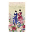 "Timeless Treasures Metallic Sakura 24"" Geisha Panel Stone"