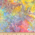 "Timeless Treasures 106""Batik Wide Back Garden Paisley Unicorn"